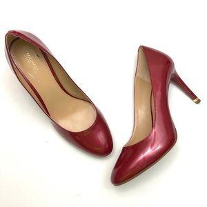 Michael Kors Red Patent Ashby Flex Heels